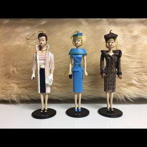 1995 Ashton Drake Barbie Ornaments $35/3